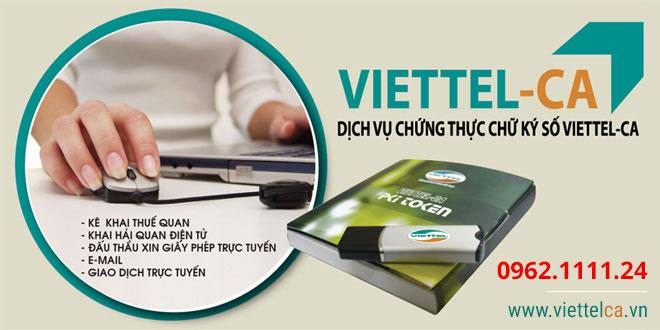 Dịch vụ chữ ký số ViettelCA
