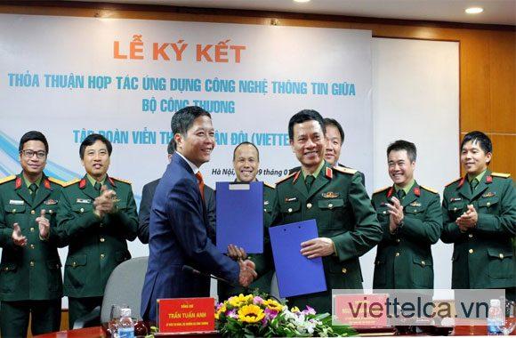Viettel CA ký kết chữ ký số với Bộ Công thương
