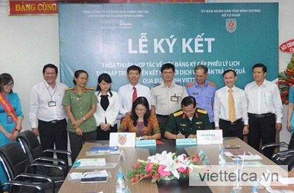Viettel CA kết kết với Bộ Tư pháp