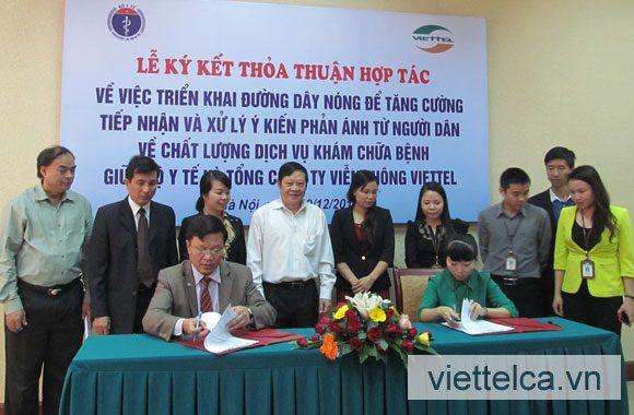 Viettel-CA ký kết hợp tác với Bộ Y tế