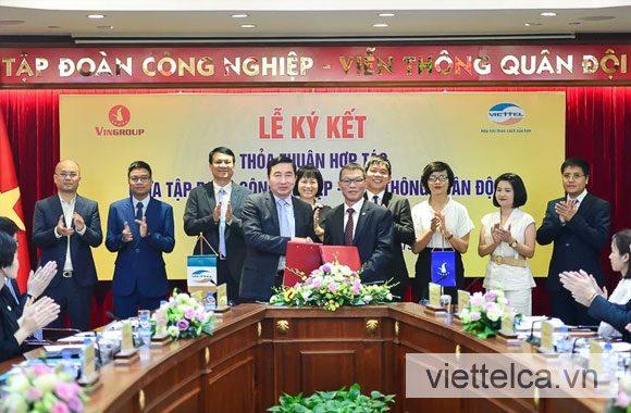 Hợp tác giữa Vingroup và ViettelCA