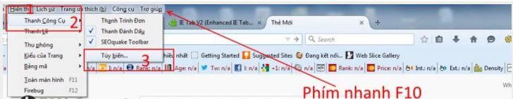 Bật IE Tab trên trình duyệt Firefox