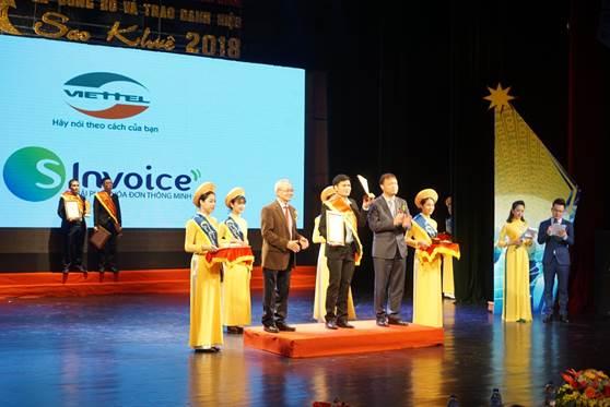 Phần mềm Hóa đơn điện tử Viettel vinh dự nhận giải thưởng Sao khuê 2018