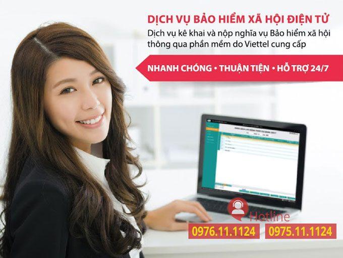 Phần mềm kê khai Bảo hiểm xã hội điện tử vBHXH Viettel