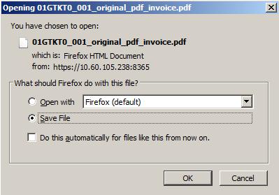 Cửa sổ tải file hóa đơn trắng